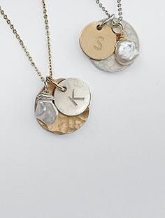 hand-stamped artisan delicate necklace