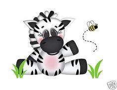 Safari Zebra Wall Mural Decals Baby Girl Boy Nursery Jungle Animal Art Stickers