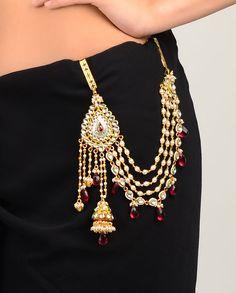 Begum Sari Belt with Red Drops