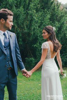 Wedding Dress Trends, Dream Wedding Dresses, Bridal Dresses, Wedding Dress Sleeves, Wedding Pics, Boho Wedding, Blue Wedding Suit Groom, Vestidos, Wedding Pictures