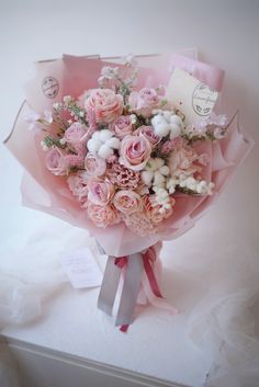 Pink Flower Bouquet, Silk Flowers, Gift Bouquet, Luxury Flowers, Romantic Things, Love Bugs, Flower Arrangements, Wedding Flowers, Birthday Gifts