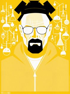 New Breaking Bad posters by Ty Mattson in So. Mattson's signed-and-numbered posters will be available for sale Tues. 24 at 10 a. ET in the official Breaking Bad store. I bet these will sell out fast. Breaking Bad Poster, Breaking Bad Arte, Affiche Breaking Bad, Breaking Bad Quotes, Beaking Bad, Walter White, Great Tv Shows, Film Serie, Character Illustration