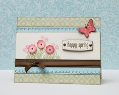 """Happy Spring"" card idea from #CTMH."