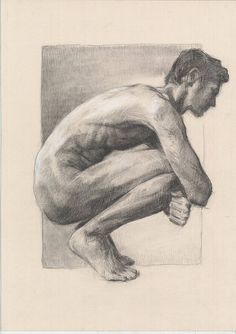 MALE NUDE Technique: Charcoal and white chalk on cardboard Size: 27.5 x 20 (70cm x 50cm) Cardboard is ecru (not exactly white) Signed by artist. Copyright: Katarzyna Gagol (Frame is not included) FREE SHIPPING WORLDWIDE Estimated time of delivery: North America: 7-9