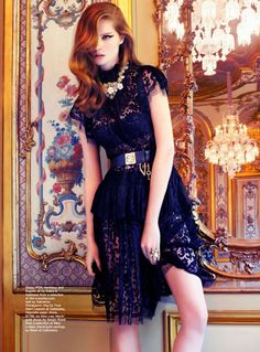 the age of opulence: alexina graham by troyt coburn for marie claire AU