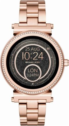 Michael Kors - Access Sofie Smartwatch 42mm Stainless Steel - Rose gold-tone - Front_Zoom