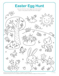 hidden picture coloring pages for kids - Google Search