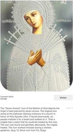 """""""Madonna de las 7 espadas que atravesaron su corazón."""