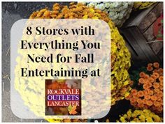 8 Stores with Everything You Need for Fall Entertaining at Rockvale Outlets Lancaster