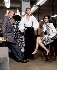 Oscar de la Renta, Jacquetta Wheeler and Alex Bolen   - HarpersBAZAAR.com