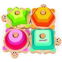 Janod Stacking Turtle Wooden Puzzle