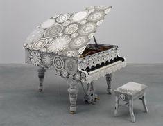 piano dantelles par joana vasconcelos œuvre d'art contemporain