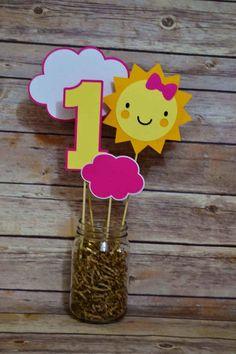 You Are My Sunshine Centerpiece Happy Birthday Sunshine Party
