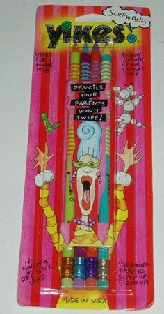 Yikes! Pencils and erasers