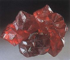 Heavy Metals - cinnabar or mercuric sulfide. Look at this color!
