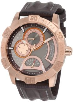 Stuhrling Original Mens 2653345K59 Leisure GenY Quartz Chronograph Rose Tone Dial Watch >>> Continue to the product at the image link.