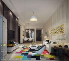 Дизайн интерьера комнаты для 3ds max