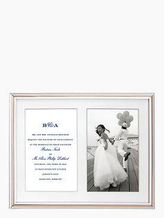 ROSY GLOW Double Invitation Frame