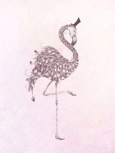 Flamingo Art Print #art #artprint #loujah #society6 #bohemian #feather #flamingo #birds #tattoo #gypsy #draw #drawing #design #pineapple #illustration #hipster #boho #summer
