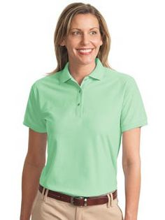 Port Authority® Ladies Silk Touch™ Pique Polo. An enduring favorite, our comfortable classic polois anything but ordinary. With superior wrinkle and shrink resistance, a silky soft hand and an incredible range of styles, sizes and colors, it's a first-rate choice for uniforming just about any group. - Arizona Cap Company - (480) 661-0540 Custom Printed & Embroidered. Visit our website for the colors available and the price.