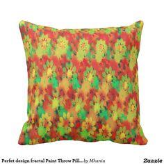Perfet design fractal Paint Throw Pillow