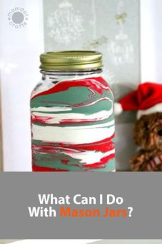 What Can I Do With Mason Jars? Christmas Mason Jars, Diy Christmas Gifts, Holiday Crafts, Christmas Snowman, Christmas Ornaments, Mason Jar Crafts, Mason Jar Diy, Crafts For Teens, Diy For Kids