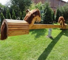 Play Garden for KidsAmazing Play Garden for Kids Pferde-Wippe - versandkostenfrei! SaddleRack Horse Designs Hand Crafted From Solid Wood Kids Outdoor Play, Backyard For Kids, Outdoor Fun, Outdoor Decor, Garden Kids, Play Yard, Backyard Playground, Outdoor Projects, Play Houses