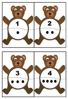 cheznounoucricri - Page 2 Bears Preschool, Kindergarten Math, Preschool Activities, Math Games, Learning Activities, Play Based Learning, Kids Learning, Bear Theme