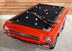 The Presurfer: Ford Mustang Pool Table  think it would look better as a toyota