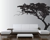 Large Wall Tree Decal Forest Decor Vinyl Sticker Highly Detailed Removable Nursery 1131 (7 feet tall)