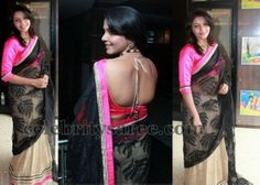 Tamil Actress in Back Neck Blouse   Saree Blouse Patterns