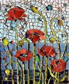 Love this mosaic.  Would look amazing on the garden fence.