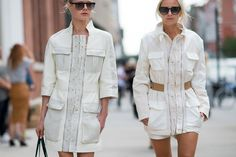 Street style - similar white designs (=)
