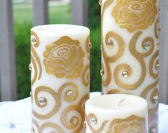 Set of 20 Mandala-Style Floating Henna Candles by TroyHennaAristry