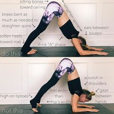 Dolphin Pose aka #ArdhaPinchaMayurasana (Proper form I learned the hard way) 1. Actively press forearms into floor 2. Firm shoulder blades to widen away from spine. Think down and back  3. If you feel rounding in your back, bend knees as much as needed to lengthen spine back out 4. Lengthen tailbone away from pelvis and sternum way from floor. *Stay-30s to one minute* *BENEFITS* Stretches shoulders,hamstrings, calves, and arches. Improves digestion. Relives headaches, insomnia, back pain…