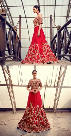 Captured in traditional silhouette, The bridal stands out due to its uniqueness and the perfect fusion of modern cut and traditional embroidery. This dress is beautifully decorated with heavy embroidery. It is highlighted with kora, dabka, tilla, sequins and pearls. Off shoulder blouse is enhanced with zardosi work all over. It comes with full embellished lehenga adorned with floral booties and vertical lines all over it. Pakistani Bridal Wear, Pakistani Wedding Dresses, Bridal Dresses, Zardosi Work, Heavy Dresses, Wedding Wear, Floral Blouse, Dream Dress, Dress For You