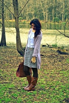 Simply Style Remains: Chevron tights and a tweed skirt