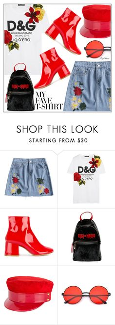 """""""Dolce & Gabbana"""" by anne-977 ❤ liked on Polyvore featuring Dolce&Gabbana, MM6 Maison Margiela, Tommy Hilfiger, Manokhi and MyFaveTshirt"""