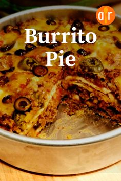 "Burrito Pie ""This is the first recipe I've made in a LONG time where everyone at the table cleaned their plates - and asked for seconds (or thirds in my husband's case! With two young kids and this rarely happens (unless we're having hot dogs! Spicy Recipes, Mexican Food Recipes, Cooking Recipes, Mexican Desserts, Freezer Recipes, Cheap Recipes, Freezer Cooking, Vegetarian Cooking, Drink Recipes"