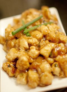 Crispy Honey Chicken--So, so good!! Very close to P.F. Changs' recipe, and I even use chicken broth instead of the sake.