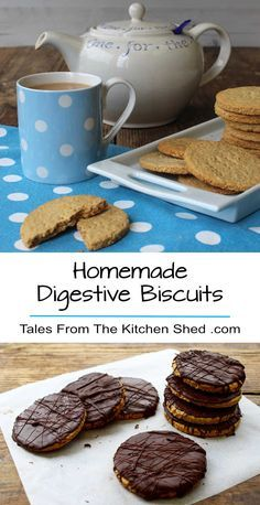 You'll love this Digestive Biscuits Recipe. Choose the healthy sugar free option or sweeten with golden syrup and cover with dark chocolate - delicious whichever way you choose and so much better than shop bought !