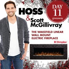Day It's your chance to win a Wakefield Linear Wall Mount Electric Fireplace from Dimplex North America. Scott Mcgillivray, Canadian Contests, Wall Mount Electric Fireplace, Enter To Win, Wakefield, Giveaways, Lowes, North America, Things I Want