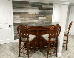 Peel and Stick Reclaimed Wood in Silver Color in a basement Bar - make your own rustic accent wall in your space! This is a easy to install, DIY project which only requires the use of a few simple tools to complete the project. Paneling starts at $11.95 per square foot. We offer a sample box for $9.95 if you aren't sure which color fits best in your project. Rustic Wood Walls, Rustic Wood, Wall, Wood, Peel And Stick Wood, Rustic Accents, Living Room Diy, Stick On Wood Wall, Weekend Projects