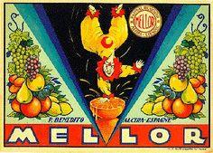 "Naranjas ""Mello"" P. Benedito.  Alzira."