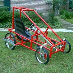 Baja The Baja is our single person buggy kit and is great for a child or teen to run around the neighborhood. Think of it as a pedal drive go-kart, with out the noise.