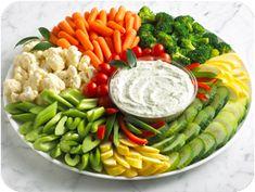 fresh veggies for a crowd: 2 oz. per person (source: http://www.ellenskitchen.com/forum/messages/1946.html)