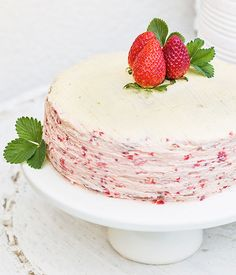 Jahodový dort Panna Cotta, Pudding, Treats, Sweet, Ethnic Recipes, Food, Cakes, Sweet Like Candy, Candy