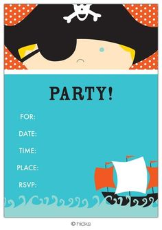 A pirate party? Oooh, that's an idea....