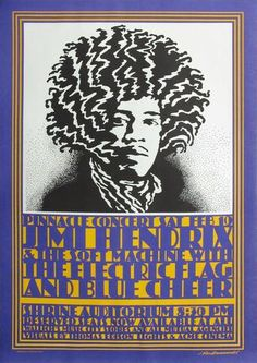 Jimi Hendrix - Shrine Auditorium - Mini Print