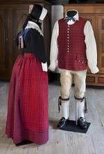 Bondedragter på Frilandsmuseet - Nationalmuseet Hedebo